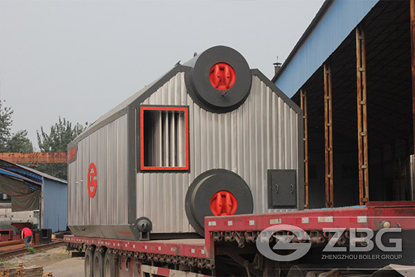 wood block fired steam boiler