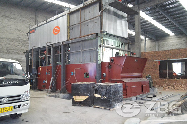 wood block fired steam boiler factory